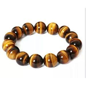 Natural Tiger Eye Round Bracelet